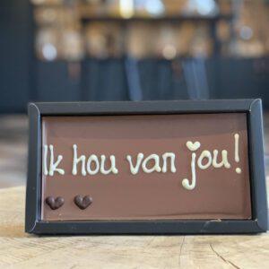Chocolade reep 'Ik hou van jou!'