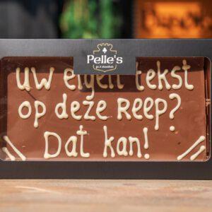 Chocolade reep 'geschreven'